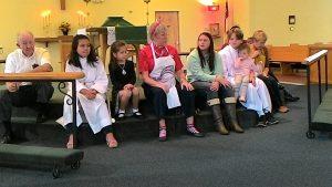 Ms. Kathy's children's sermon.